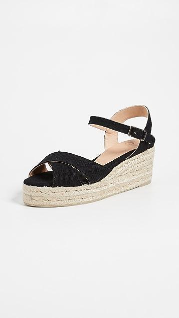 Castaner Blaudell 交叉低坡跟鞋