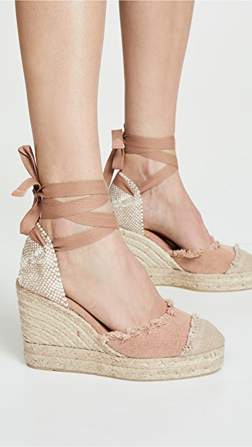 Castaner Catalina 编织底坡跟绑带凉鞋