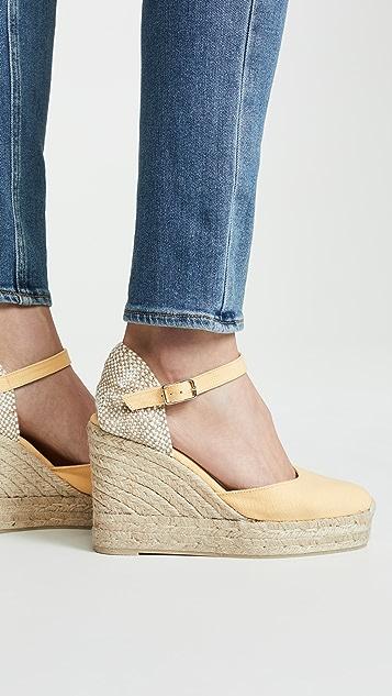 Castaner Carol 坡跟编织底凉鞋