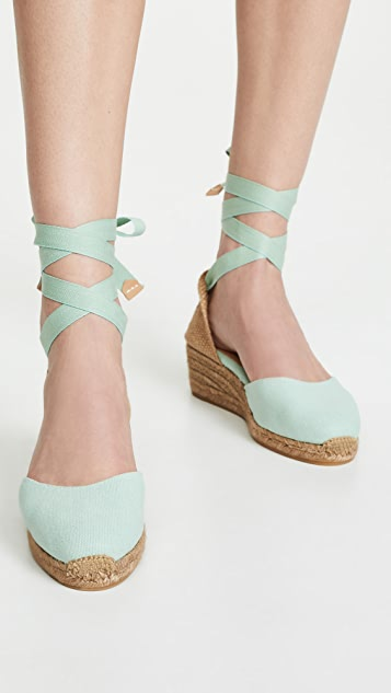 Castaner Carina T 坡跟编织底便鞋