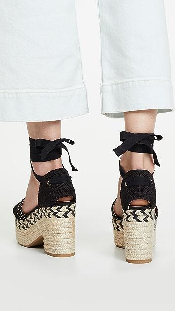 Castaner Xia 厚底编织鞋