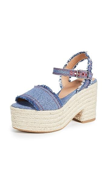 Castaner Xena 厚底编织鞋