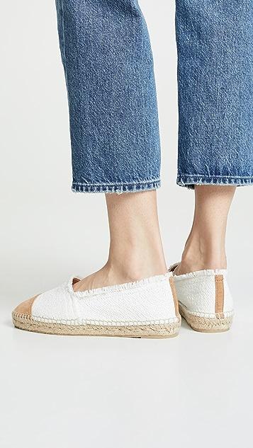 Castaner Kampala 编织底坡跟绑带凉鞋