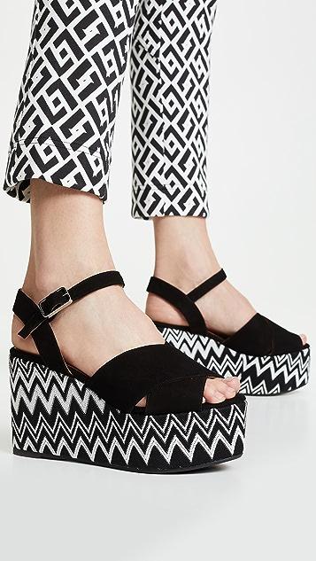 Castaner x Missoni Engie 坡跟凉鞋