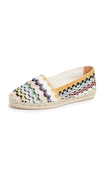 Castaner x Missoni Kenda 平底帆布鞋