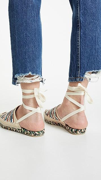 Castaner x Missoni Romy 平底帆布鞋