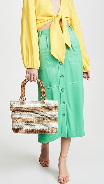 Caterina Bertini 条纹手提袋