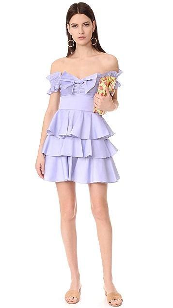 Caroline Constas Helena 青年布连衣裙