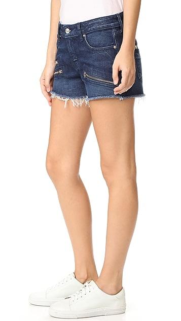 DEREK LAM 10 CROSBY Quinn 修身女友风格毛边短裤