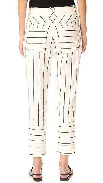 DEREK LAM 10 CROSBY 实用束带裤