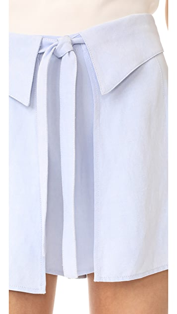 DEREK LAM 10 CROSBY 正面平整短裤