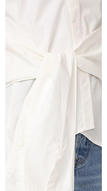 DEREK LAM 10 CROSBY 无袖绑带正面上衣