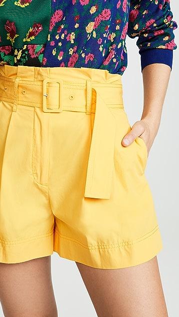 Derek Lam 10 Crosby 系腰短裤