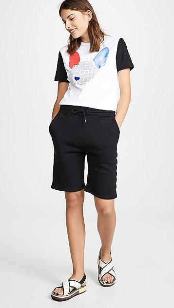 Etre Cecile 罗纹运动短裤