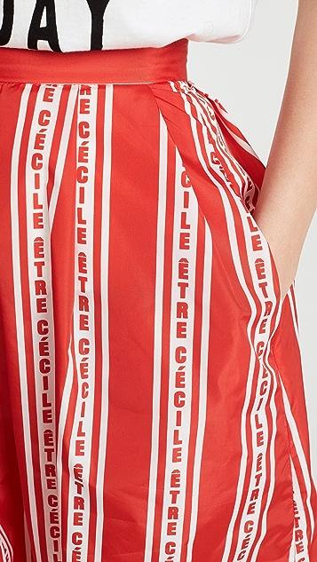 Etre Cecile Stripe Amelie 半身裙