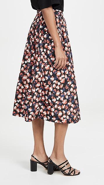 Etre Cecile Amelie 豹纹中长半身裙