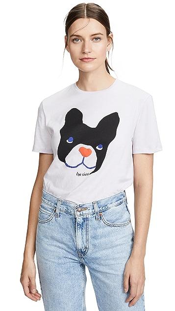 Etre Cecile 大号狗狗 T 恤