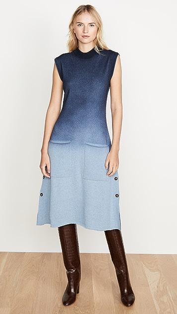 Cedric Charlier 蓝色渐变色毛衣连身裙