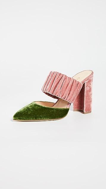 Chloe Gosselin Kiera 双色尖头穆勒鞋