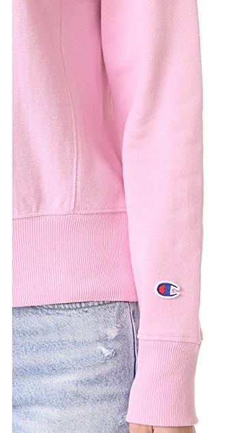 Champion Premium 反面梭织布 圆领运动衫