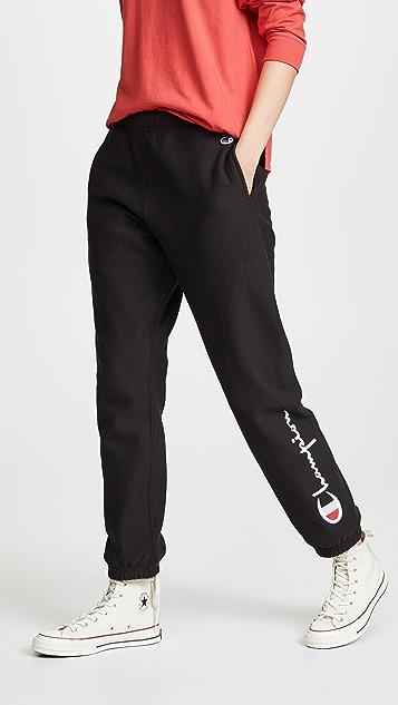 Champion Premium Reverse Weave 松紧裤脚运动裤