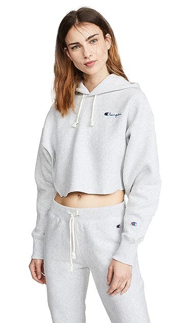 Champion Premium Reverse Weave 短款连帽运动衫