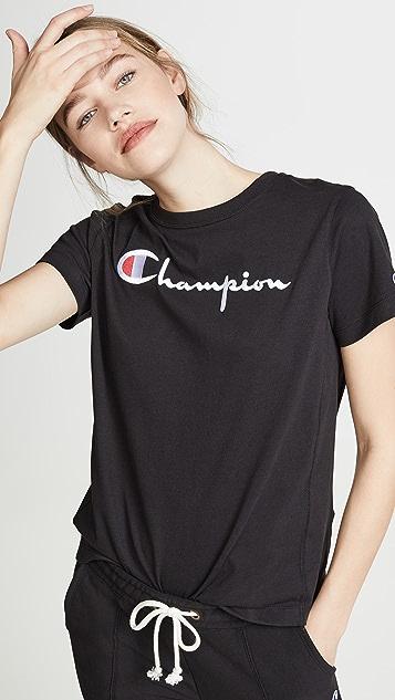 Champion Premium Reverse Weave 经典字样 T 恤