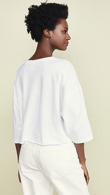 Champion Premium Reverse Weave 短款 3/4 T 恤