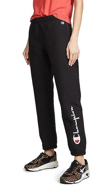 Champion Premium Reverse Weave 毛圈布裤脚运动裤