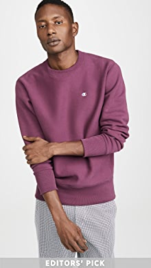 챔피온 Champion Small Logo Crew Neck Sweatshirt,Cranberry Mauve