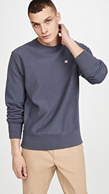 챔피온 Champion Small Logo Crew Neck Sweatshirt,Stealth