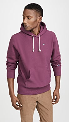 챔피온 Champion Small Logo Hoodie,Cranberry