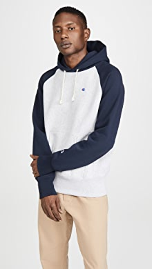 챔피온 Champion Script Two Tone Hoodie,Oxford Grey