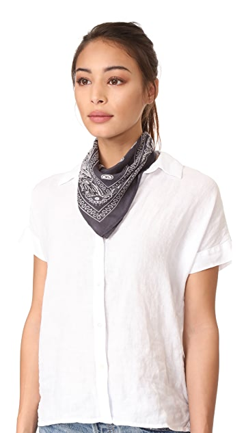 Chan Luu 丝质手帕窄围巾