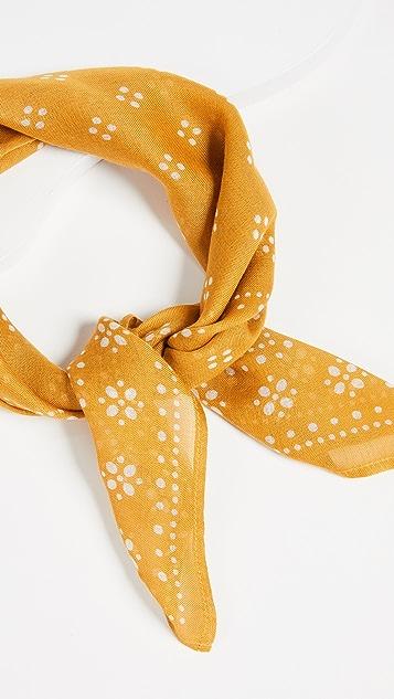 Chan Luu 复古波点花色丝质方巾