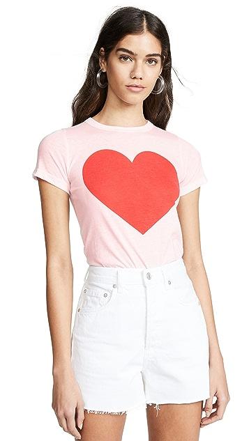 Chaser 心形图案 T 恤