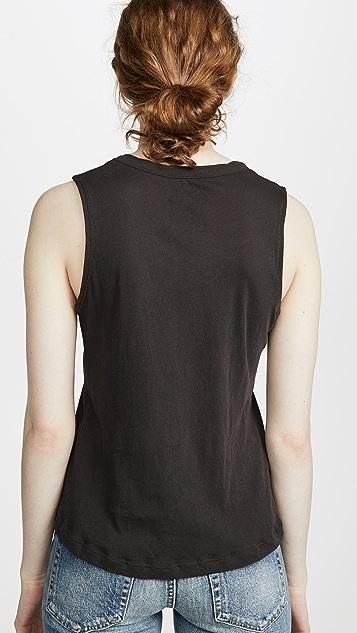 Chaser 薄纱棉质不对称健美背心