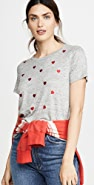 Chaser 亚麻平纹针织基本款圆领 T 恤