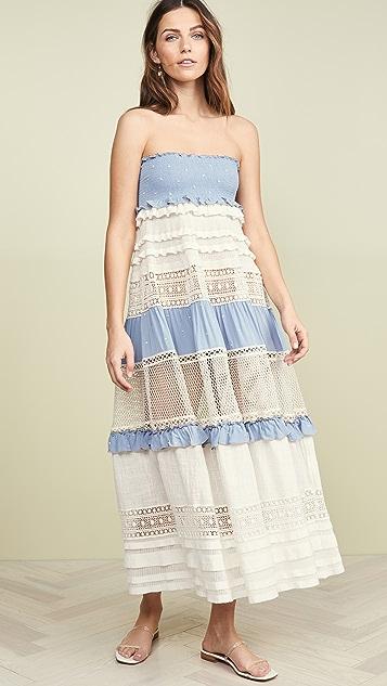 CHIO 抽褶高腰半身长裙/连衣裙