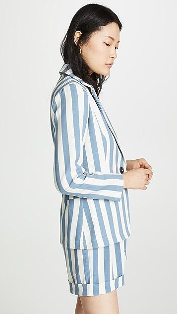 Chriselle Lim Collection 蓝色条纹西装外套
