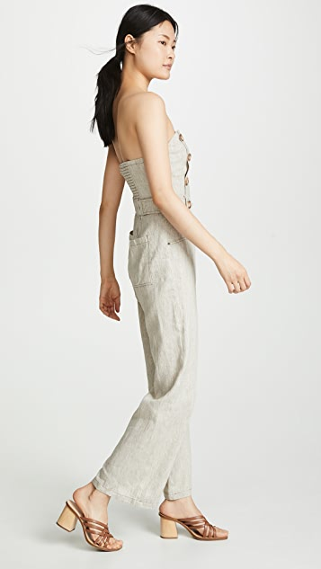 Chriselle Lim Collection 燕麦色连身衣