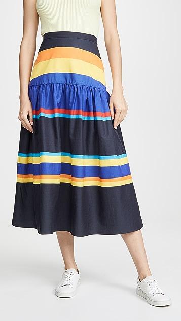 Chinti and Parker 条纹半身裙