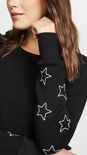 CHRLDR 缝线星星高开衩运动衫