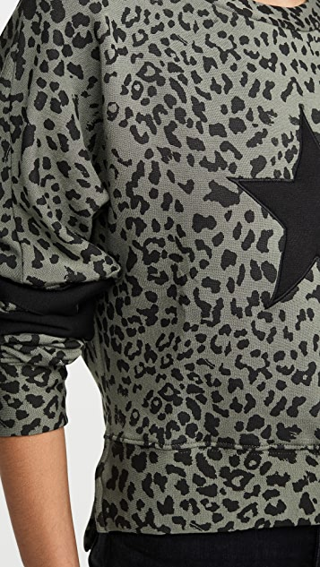 CHRLDR 豹纹印花落肩运动衫