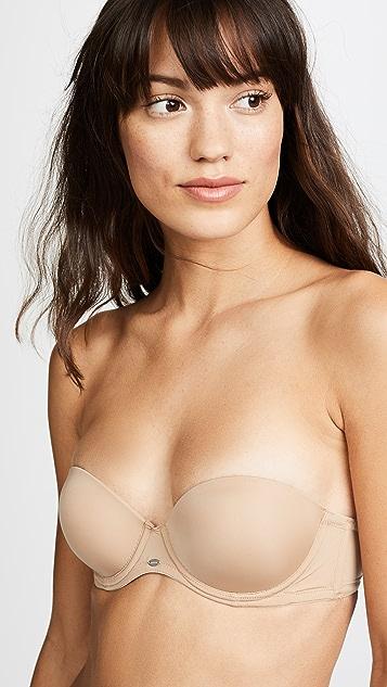 Calvin Klein 钢托文胸 Naked Glamour 无肩带上托文胸