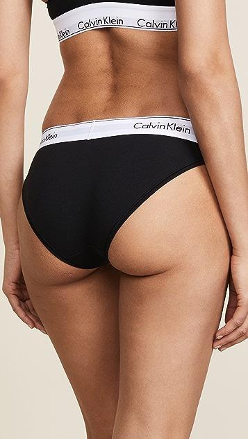 Calvin Klein 钢托文胸 Modern Cotton 比基尼短裤