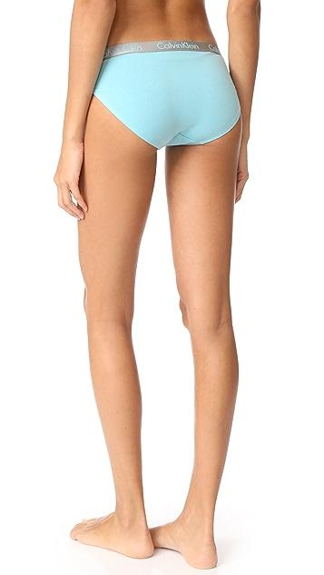 Calvin Klein 钢托文胸 Radiant 棉质比基尼短裤