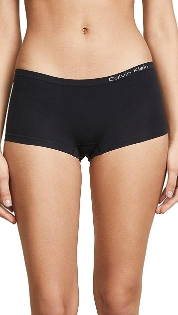 Calvin Klein Underwear 纯色无接缝低腰平角内裤