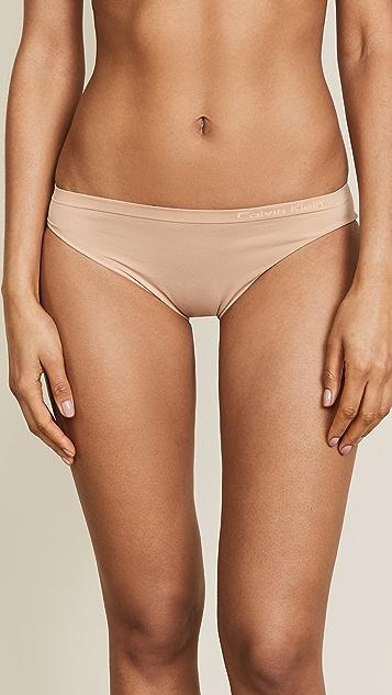 Calvin Klein 钢托文胸 纯色无接缝比基尼内裤