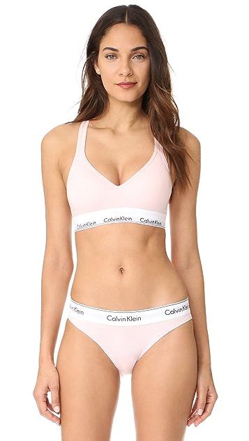 Calvin Klein 钢托文胸 时尚棉质轻柔衬里休闲文胸